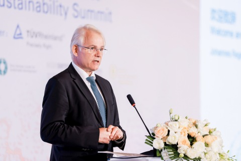 德意志联邦共和国驻华公使、德国驻华大使馆副馆长Johannes Regenbrecht致辞 (Photo: Business Wire)