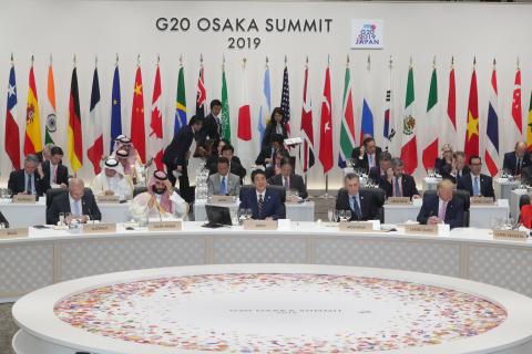 G20 Osaka Summit Working Lunch (Photo: Business Wire)