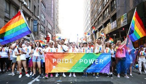 Hundreds of PVH associates celebrate WorldPride NYC reaffirming the company's long-standing commitment to Inclusion & Diversity.