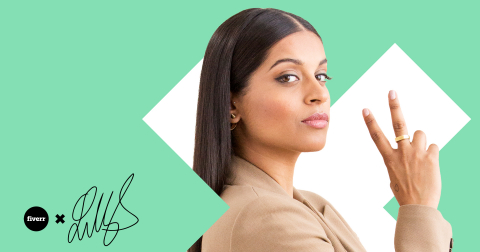 Fiverr Announces New Partnership with Lilly Singh. (Graphic: Fiverr)