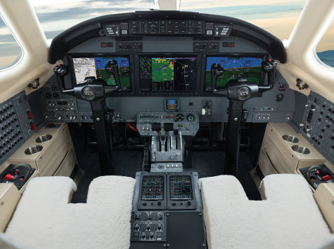 G5000 integrated flight deck in the Citation XLS (Photo: Business Wire)
