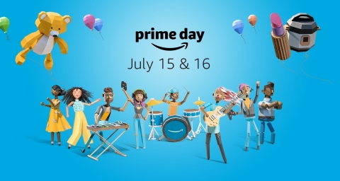 Prime members can enjoy exclusive offers and savings every day leading up to Prime Day across Amazon devices, fashion, grocery, toys, furniture, everyday essentials, school supplies and more. (Graphic: Business Wire)