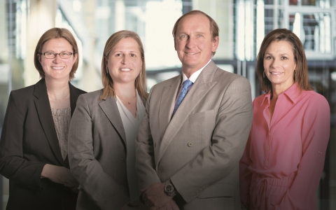 From left, Christina Williams, Victoria Greene, George Georgiades, Janet Syptak of G Squared Private Wealth (Photo: Business Wire)