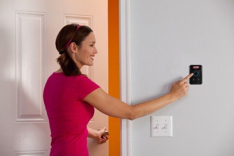 The Genie Company announces the release of its newest garage door opener accessory, the wireless wall console. (Photo: Business Wire)