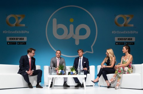 Turkcell today announced it adds new exclusive members and features for the BiP channel 'Dr. Oz & Team'. (Photo: TURKCELL)