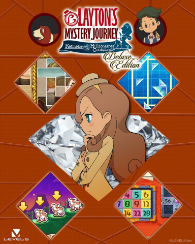 The LAYTON series is coming to the Nintendo Switch system for the very first time! On Nov. 8, the LAYTON'S MYSTERY JOURNEY: Katrielle and the Millionaires' Conspiracy - Deluxe Edition game brings its mysterious story and challenging puzzles to Nintendo Switch. (Graphic: Business Wire)