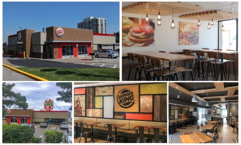 Beautiful new look of the remodelled BURGER KING at Burnhamthorpe and Dixie Rd, Mississauga. (Photo: Business Wire)