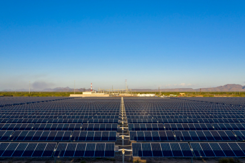 EDF Renewables' first solar project in Mexico - Bluemex Solar Project in Sonora. (Photo: Business Wire)
