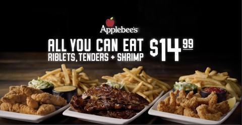 All You Can Eat Riblets, Chicken Tenders & Shrimp Is Back at Applebee's by Popular Demand (Photo: Business Wire)