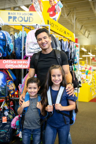 Office Depot is partnering with TV star, host and father, Mario Lopez, to demonstrate how back-to-school shopping is the best time to build your kids' self-esteem and teach them how to be themselves. (Photo: Business Wire)