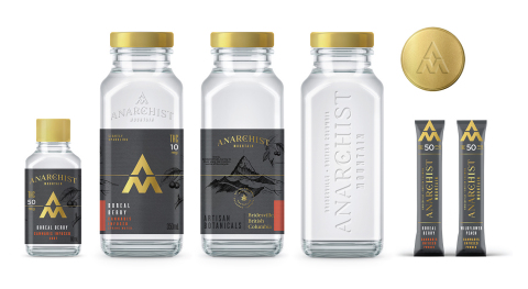 ANARCHIST MOUNTAIN Botanical flavors, inspired by the Pacific Northwest, infused in sparkling alkaline spring water. THC dominant. (Photo: Business Wire)