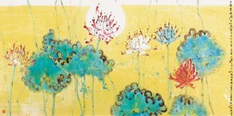 Da Luo Bao Jing. Lotus > / encre et couleur sur papier / 122.5 × 246 cm (Photo: Business Wire)