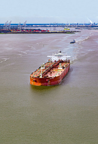 Vessel activity along the Houston Ship Channel. (Photo: Business Wire)