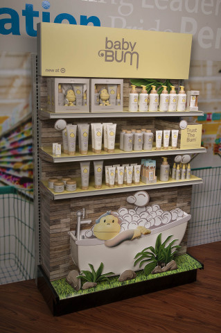 WestRock's Baby Bum® Target Endcap for Sun Bum® won a gold award in the Hair Care and Skin Care – Temporary Display category at the 2019 Outstanding Merchandising Achievement (OMA) Awards. (Photo: Business Wire)