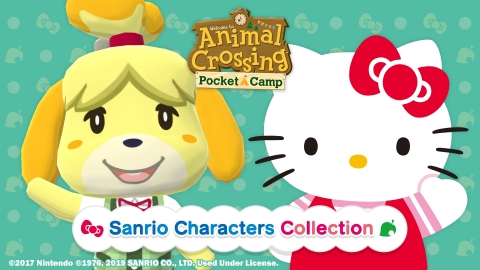 The free Animal Crossing: Pocket Camp Sanrio Characters Collection event gives players the opportunity to obtain adorable in-game items like sofas, beds, hats and dresses featuring various Sanrio characters. (Graphic: Business Wire)