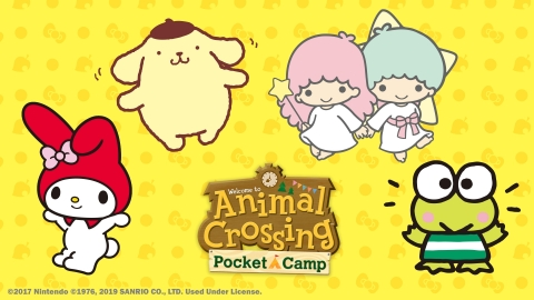 In addition to adding items featuring Sanrio characters to the game, the Animal Crossing: Pocket Camp Sanrio Characters Collection event will also see Sanrio characters featured in weeks of in-game rewards and events. (Graphic: Business Wire)