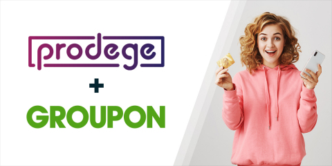 Groupon, the global marketplace for local services, experiences and goods, announced a U.S. distribution partnership with Prodege, an internet and media company that is dedicated to creating rewarding moments for its members and has awarded them more than $700 million in cash and free gift cards. (Photo: Business Wire)