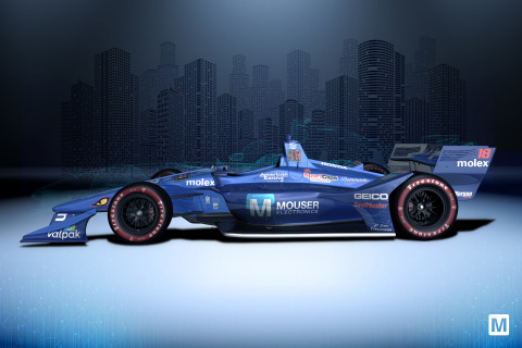 The Mouser Electronics-sponsored No. 18 Dale Coyne Racing with Vasser-Sullivan car will sport a Mouser Blue livery for the second year in a row at Honda Indy Toronto on July 14. (Photo: Business Wire)