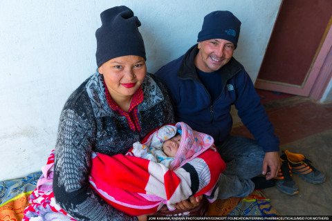 Nepal: Due to postpartum haemorrhage (PPH), Tulasi was rushed to have emergency blood transfusions after childbirth. Her husband Dinesh felt helpless, but thankfully she recovered. (Photo: Business Wire)