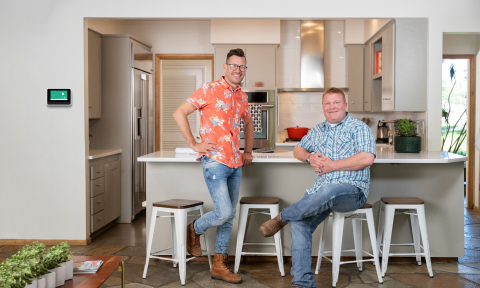 "Luke Caldwell and Clint Robertson, hosts of HGTV's ""Boise Boys,"" share the benefits of smart home technology with their viewers. (Photo: Business Wire)"