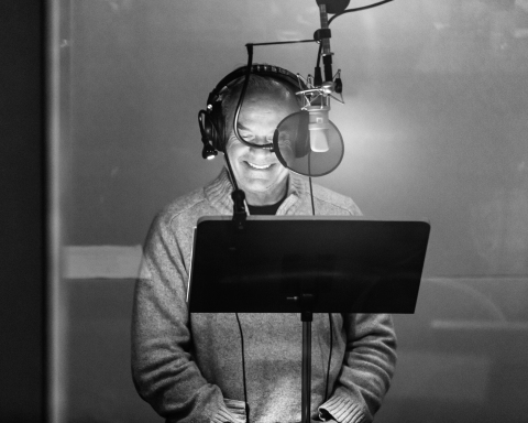 Kelsey Grammer in the recording studio for You're Not a Monster (Rich Polk/Getty Images for IMDb)
