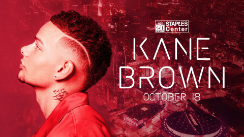 Multi-platinum selling breakout artist Kane Brown has been tapped to headline STAPLES Center's 20th anniversary concert at the historic downtown Los Angeles arena on October 18, 2019. (Graphic: Business Wire)