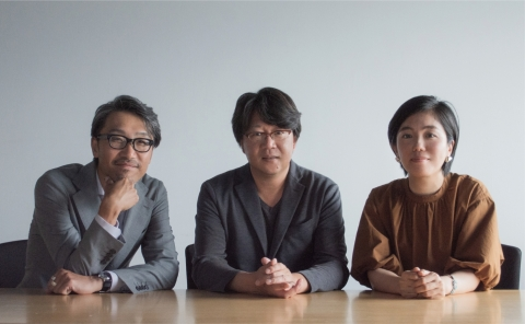 LtoR — Endoh 2nd, communication designer, Tetsuya Yamada, Creative Director and Copywriter, Haruna Tsukidate, Commercial Planner (Photo: Business Wire)