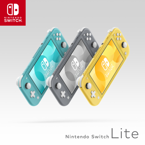 The Nintendo Switch Lite system launches Sept. 20 at a suggested retail price of $199.99 and will be available in three different colors: yellow, gray and turquoise. (Photo: Business Wire)