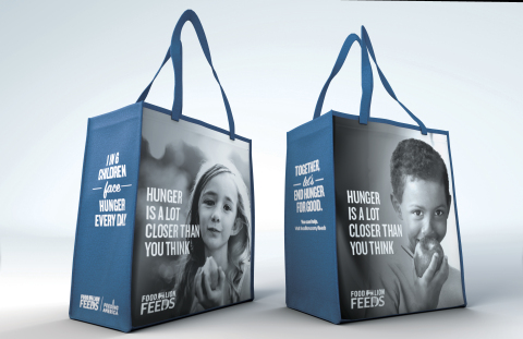 Through Food Lion Feeds, Food Lion will donate up to 1 million meals to fight child hunger through the purchase of this specially-marked reusable bag. Photo Courtesy of Food Lion.