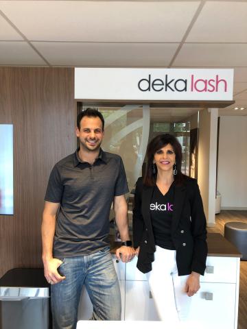 Sam and Lexi Tehven Deka Lash Cherry Creek Franchisees (Photo: Business Wire)