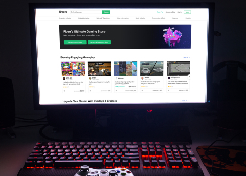 Fiverr's new Gaming Store features 30 digital service categories from game development to game design, to support the industry's growing community (Photo: Fiverr)