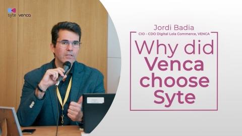 Jordi Badia, CIO & CDO at Venca shares why he chose Syte to power Venca's Visual AI product discovery. (Photo: Business Wire)
