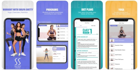 Video-Rich Shilpa Shetty Health and Fitness App (Graphic: Business Wire)