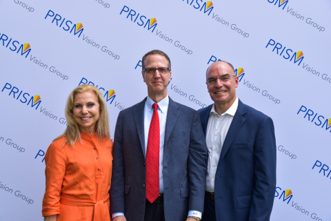 Cynthia Matossian, MD, FACS, founder, Matossian Eye Associates; Steven Madreperla, MD, Ph.D., President & CEO, Prism Vision Group; and Stuart Noorily, MD, NJRetina. (Photo: Business Wire)