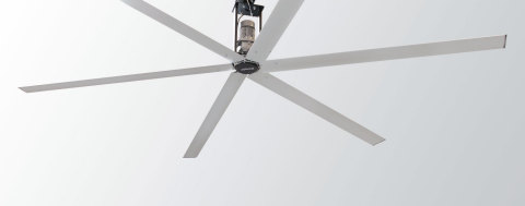 The All-New MacroAir Y Series Industrial Ceiling Fan. (Photo: Business Wire)