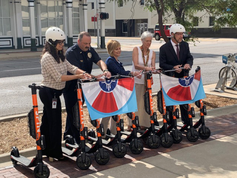 City leaders in Wichita cut the ribbon on its new scooter share program operated by Zagster. (Photo: Business Wire)
