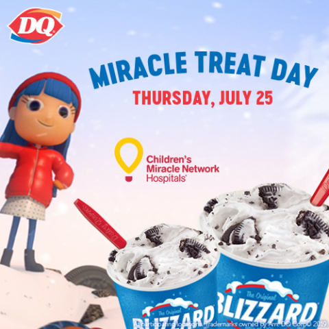 The 14th Annual DQ Miracle Treat Day is Thursday, July 25 (Photo: Business Wire)