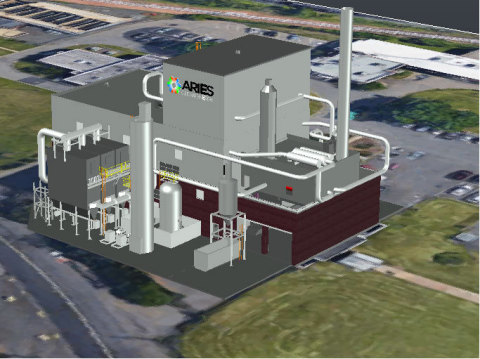 Rendering of Aries Linden Biosolids Gasification Facility (Photo: Business Wire)