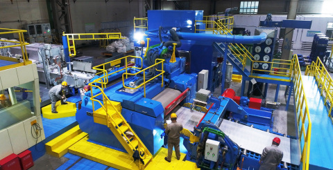 Hazelett continuous casting machine for aluminum strip (Photo: Business Wire)