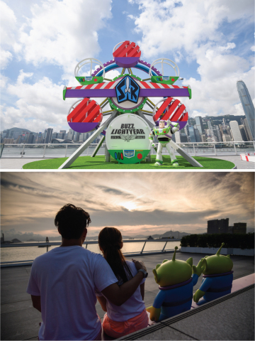 Enjoy HK Skyline & Beautiful Sunset with Buzz & Aliens (Photo: Business Wire)