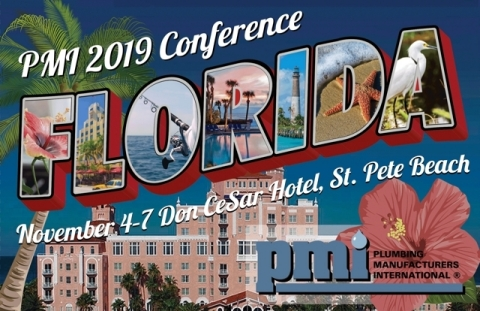 Register today for the PMI19 Conference from Plumbing Manufacturers International, Nov. 4-7 in St. Pete Beach, Fla. (Graphic: Business Wire)