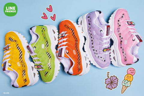 The LINE FRIENDS   Skechers Energy capsule features six characters: BROWN, CONY, SALLY, JESSICA, LEONARD, and BROWN's younger sister CHOCO. (Graphic: Business Wire)