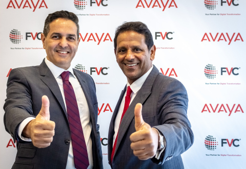 (From left to right) Fadi Hani, Vice President – Middle East, Turkey and Africa, Avaya & K.S. Parag – Managing Director, FVC at the signing ceremony (Photo: AETOSWire)