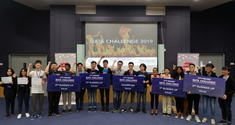 The winning teams at the Fusionex Data Challenge 2019 (Photo: Business Wire)