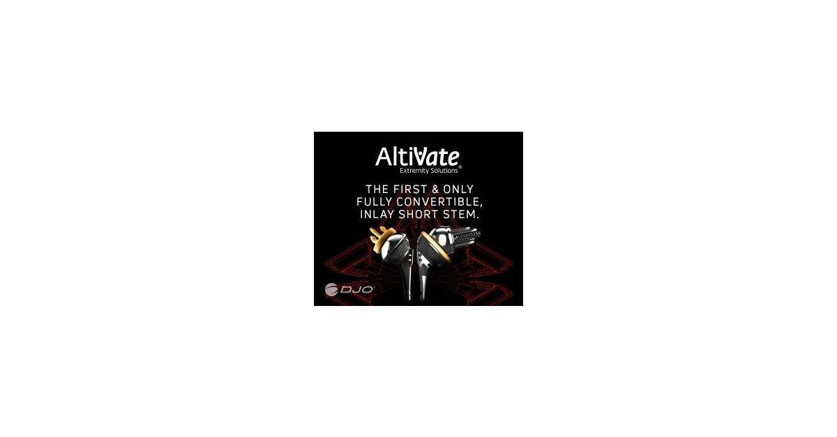DJO® Announces Release of AltiVate Reverse® Short Stem, The
