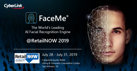 CyberLink to showcase FaceMe® AI Facial Recognition Engine at RetailNOW 2019 (Graphic: Business Wire)