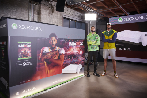 Anthony Davis and Ronnie 2K Unveil Special Edition Xbox One X NBA® 2K20 Console Bundle (Photo: Business Wire)