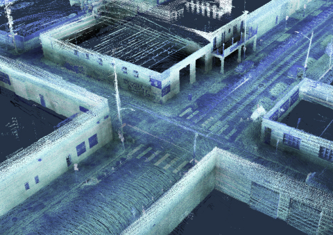 Allvision uses Kaarta's Stencil 2-32, equipped with Velodyne lidar, to conduct curb occupancy analysis in Pittsburgh's Strip District, an area known for high on-street parking demands. (Photo: Business Wire)