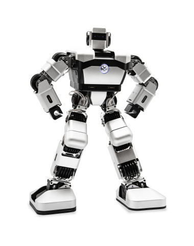 Yanshee, a first-of-its-kind, open-source, humanoid robot, combines an advanced AI interface, programmable Raspberry Pi card, and a host of sensors and functionality. (Photo: Business Wire)