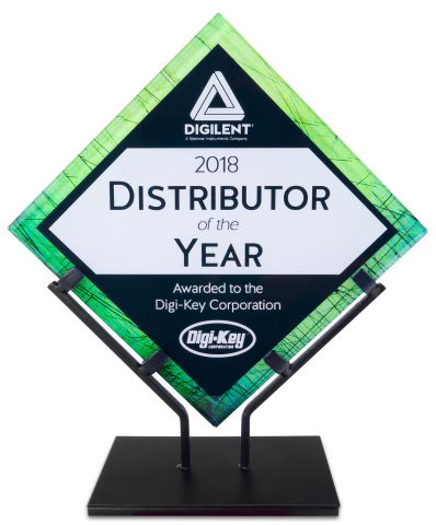 Digilent Recognizes Digi-Key as The Distributor of the Year 2018 (Photo: Business Wire)